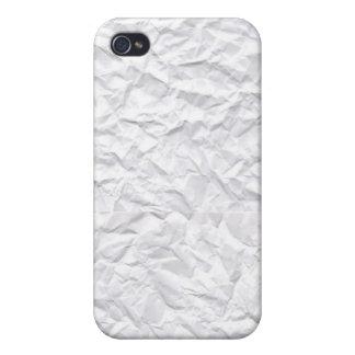 Papel arrugado iPhone 4 funda