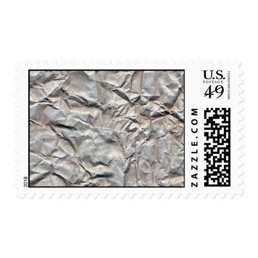 Papel arrugado sellos