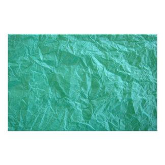 Papel arrugado verde papelería personalizada