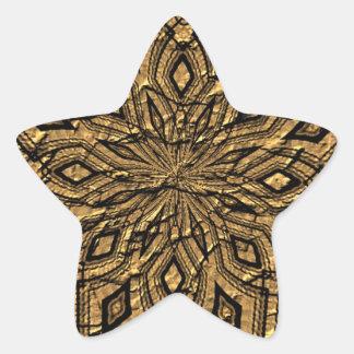 Papel arrugado viejo pegatina en forma de estrella