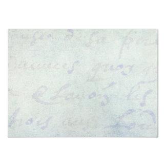 """Papel azul de la antigüedad francesa de las letras invitación 4.5"""" x 6.25"""""""