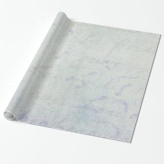Papel azul de la antigüedad francesa de las letras papel de regalo