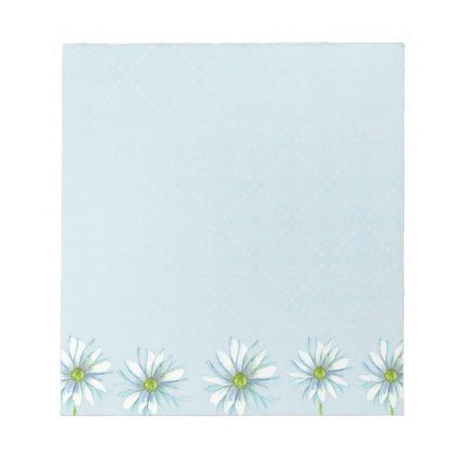 Papel azul del arte botánico de la libreta de la f bloc