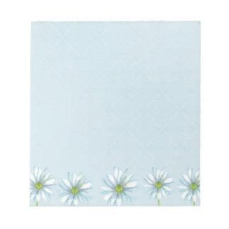 Papel azul del arte botánico de la libreta de la f bloc de papel