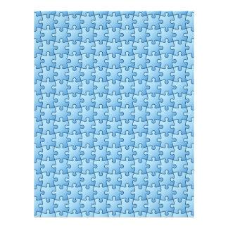 Papel azul del arte del libro de recuerdos del membretes personalizados