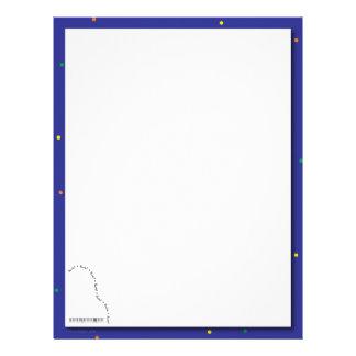 Papel azul del decreto del piano de cola membrete personalizado