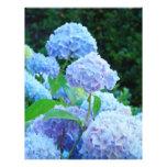 Papel azul del libro de recuerdos de la flor del H Membrete