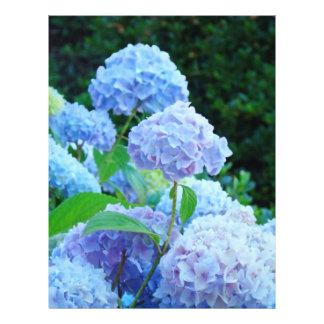 Papel azul del libro de recuerdos de la flor del H Membretes Personalizados