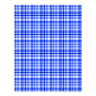 Papel azul del libro de recuerdos de la tela escoc plantilla de membrete