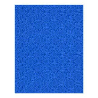 Papel azul del libro de recuerdos del sol membrete
