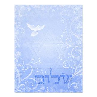 Papel azul del remolino 8 5x11 de la paloma de Sha Membrete Personalizado