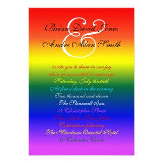 papel básico del boda 5x7 del orgullo gay del arco