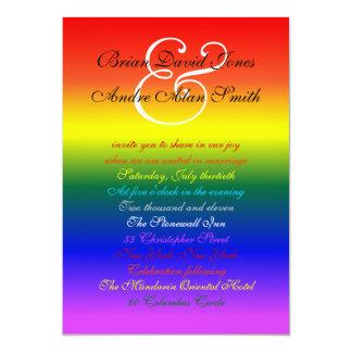 papel básico del boda 5x7 del orgullo gay del arco comunicados personales