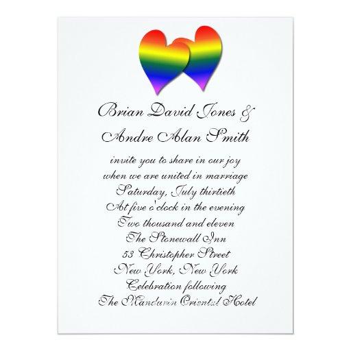 """papel básico del boda 6.5x9 del orgullo gay del invitación 6.5"""" x 8.75"""""""