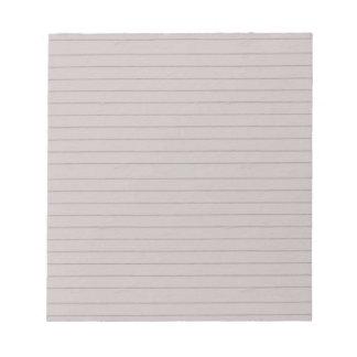 papel beige alineado bloc de notas
