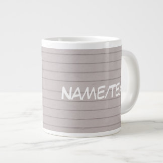 papel beige alineado taza grande