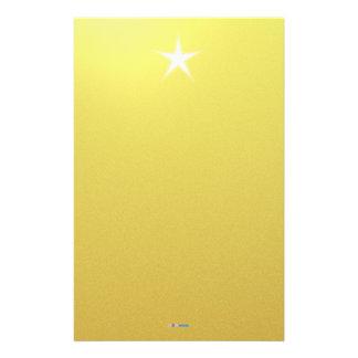 Papel blanco del oro de la estrella papeleria personalizada
