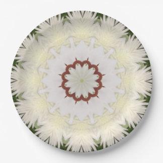 Papel blanco hermoso Plates-9 de la flor de Lilly Platos De Papel