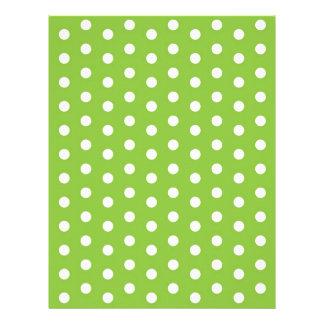 Papel blanco verde del libro de recuerdos del bebé membretes personalizados