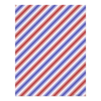 Papel blanco y azul pelado rojo del libro de recue membrete a diseño