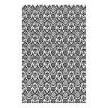 Papel blanco y negro del arte del damasco  papeleria