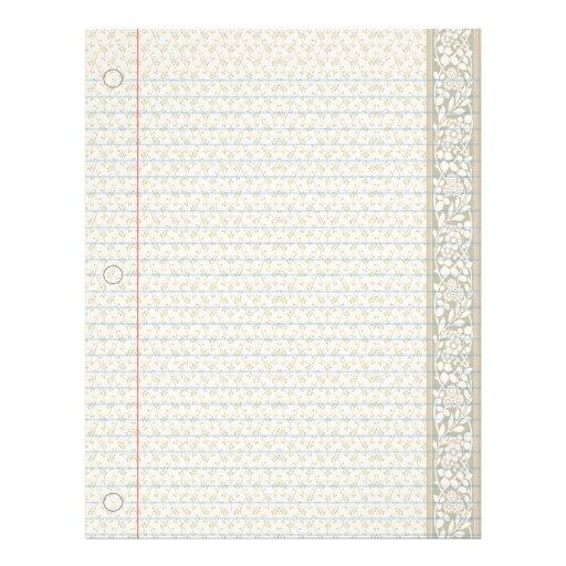 Papel clásico del cuaderno del país membrete a diseño