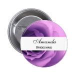 Papel color de rosa púrpura soñador del boda de la pins