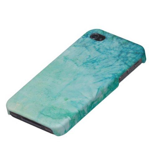 Papel con el extracto azul, verde, y negro de la p iPhone 4/4S carcasa