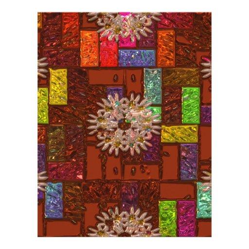 Papel con membrete abstracto geométrico plantillas de membrete