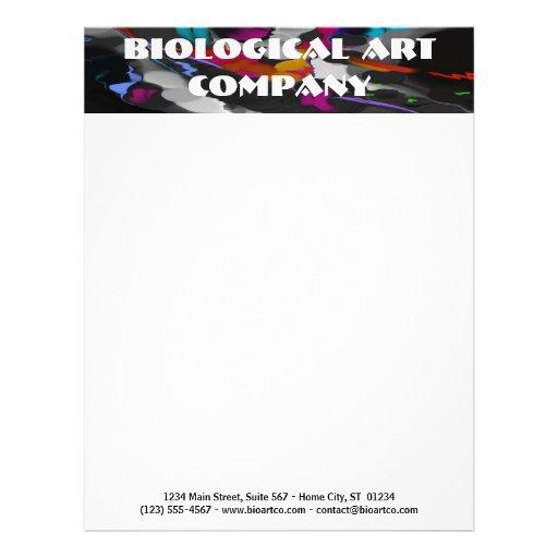 Papel con membrete adaptable - arte biológico membrete a diseño