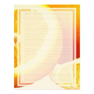 Papel con membrete alineado rebanada anaranjada plantillas de membrete
