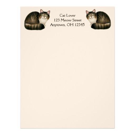 Papel con membrete amistoso de los gatos de Tabby Membrete A Diseño
