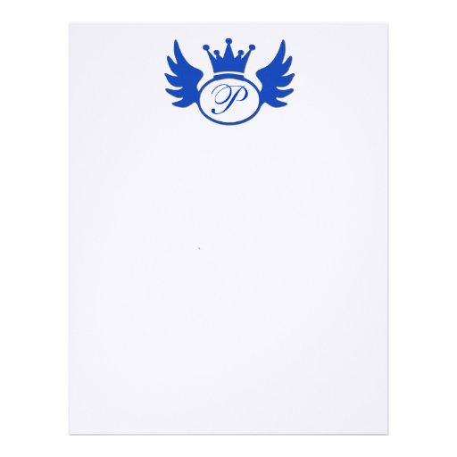 Papel con membrete azul de los efectos de escritor membretes personalizados