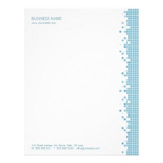 Papel con membrete azul de los pixeles membretes personalizados