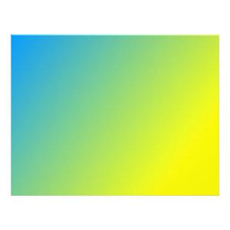 Papel con membrete azul y amarillo plantillas de membrete