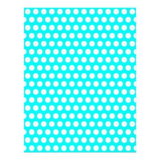 Papel con membrete blanco de los lunares membretes personalizados
