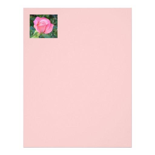 Papel con membrete color de rosa rosado membrete a diseño
