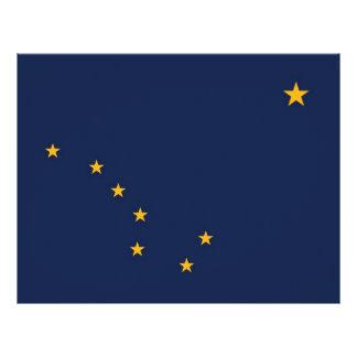 Papel con membrete con la bandera de Alaska, los E Membrete A Diseño