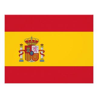 Papel con membrete con la bandera de España Membretes Personalizados