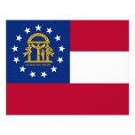 Papel con membrete con la bandera de Georgia, los  Membretes Personalizados