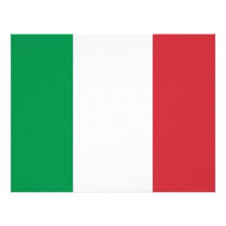 Papel con membrete con la bandera de Italia Plantillas De Membrete
