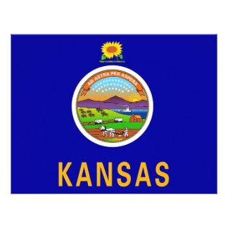 Papel con membrete con la bandera de Kansas, los E Membretes Personalizados