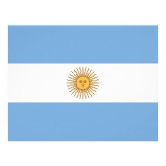 Papel con membrete con la bandera de la Argentina Plantilla De Membrete
