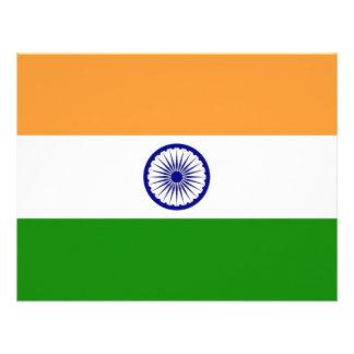Papel con membrete con la bandera de la India Membrete Personalizado