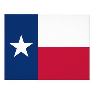 Papel con membrete con la bandera de Tejas, los E. Membrete