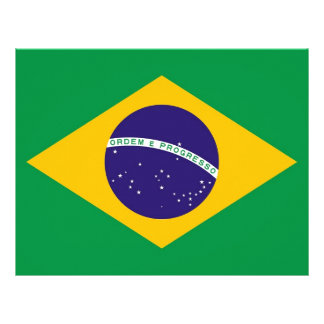 Papel con membrete con la bandera del Brasil Membrete A Diseño