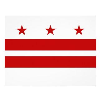Papel con membrete con la bandera del Washington D Membrete