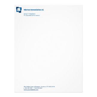 Papel con membrete corporativo de los cuadrados membrete personalizado