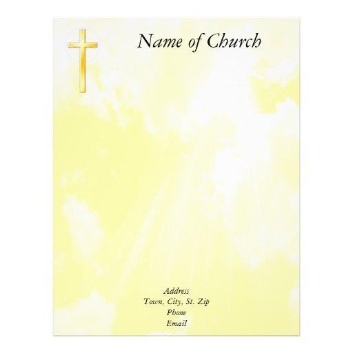 Papel con membrete cristiano plantillas de membrete