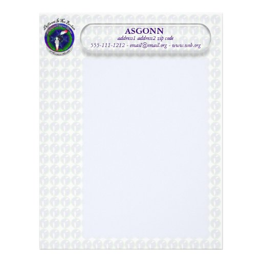 Papel con membrete de ASGONN Membrete Personalizado